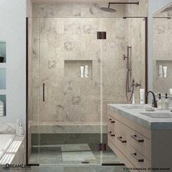 """DreamLine Unidoor X 62 5"""" W x 72"""" H Hinged Shower Door III Type 151382521 Shower Doors in Canada"""
