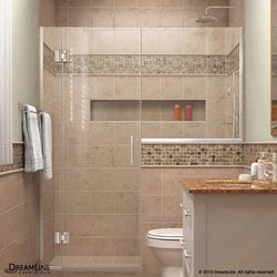 "DreamLine Unidoor X 57 5"" W x 72"" H Hinged Shower Door V Type 151384071 Shower Doors in Canada"