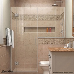 "DreamLine Unidoor X 58 5"" W x 72"" H Hinged Shower Door V Type 151384261 Shower Doors in Canada"