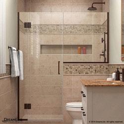 """DreamLine Unidoor X 58 5"""" W x 72"""" H Hinged Shower Door V Type 151384271 Shower Doors in Canada"""