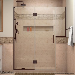 "DreamLine Unidoor X 72 5"" W x 72"" H Hinged Shower Door VI Type 151384871 Shower Doors in Canada"
