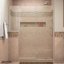 """DreamLine Unidoor X 71 5"""" W x 72"""" H Hinged Shower Door VI Type 151384921 Shower Doors in Canada"""