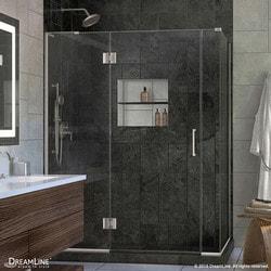 "DreamLine Unidoor X 57""W x 30 375""D x 72""H Hinged Shower Enclosure III Model 151060161 Shower Enclosures"
