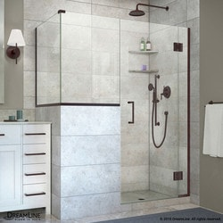 "DreamLine Unidoor X 60""W x 36 375""D x 72""H Hinged Shower Enclosure V Type 151061491 Shower Enclosures in Canada"