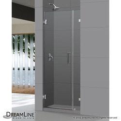 """DreamLine Unidoor Lux 33"""" Frameless Hinged Shower Door Type 151373041 Shower Doors in Canada"""