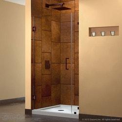 """DreamLine Unidoor Lux 34"""" Frameless Hinged Shower Door Model 151373921 Shower Doors"""