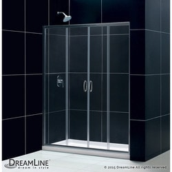 "DreamLine Visions Frameless Sliding Door & SlimLine 32""x60"" Shower Base Type 151279491 Shower Enclosures in Canada"