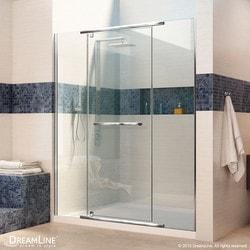 """DreamLine Vitreo X 58 75"""" Frameless Pivot Shower Door Type 151369721 Shower Doors in Canada"""