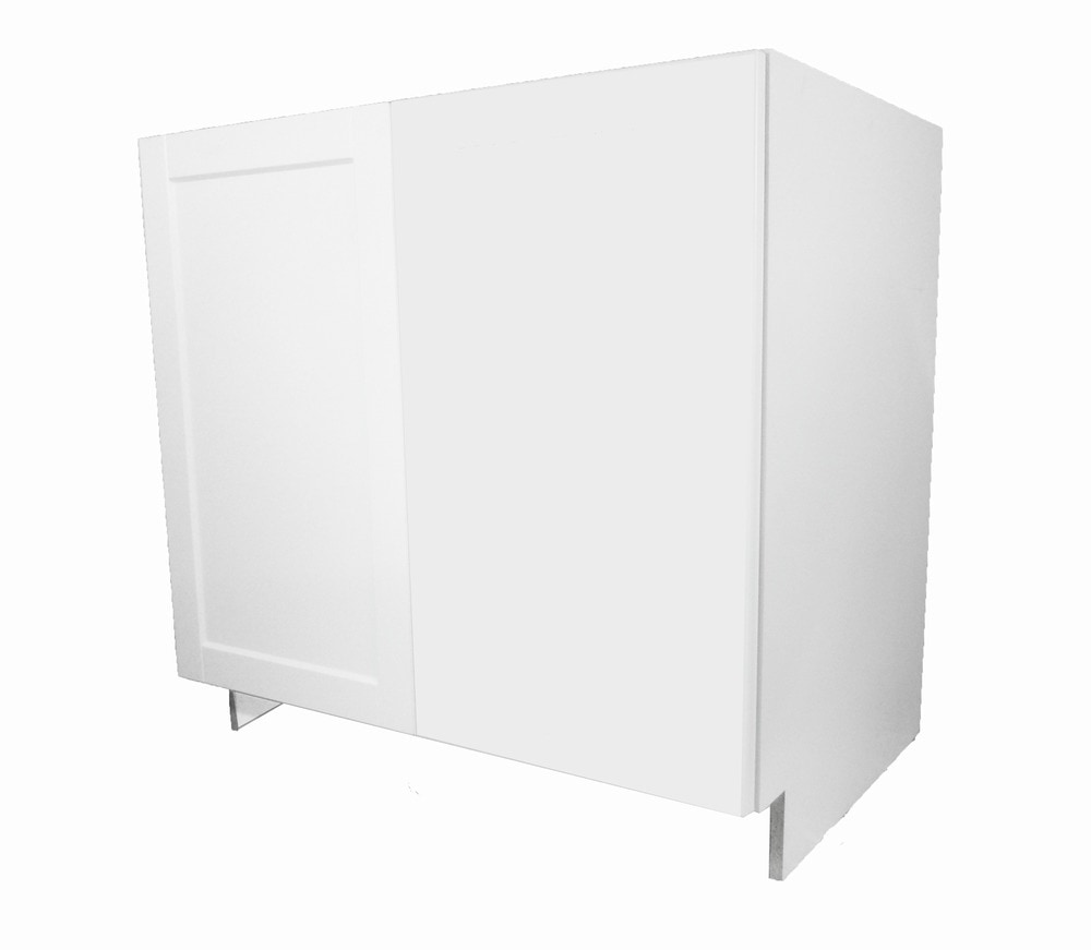 Advantage One Solaire White Blind Base Cabinet With Door
