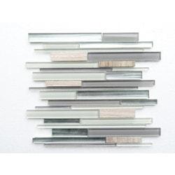PALMARY Textured Stripe Model 150768881 Kitchen Glass Mosaics
