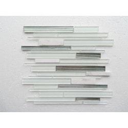 PALMARY Textured Stripe Model 150768891 Kitchen Glass Mosaics