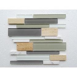 PALMARY Textured Stripe Series Model 150768981 Kitchen Glass Mosaics