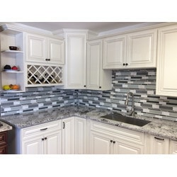PALMARY Textured Stripe Series Model 150768991 Kitchen Glass Mosaics
