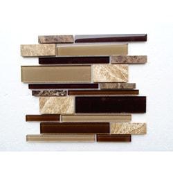 PALMARY Textured Stripe Series Model 150769001 Kitchen Glass Mosaics