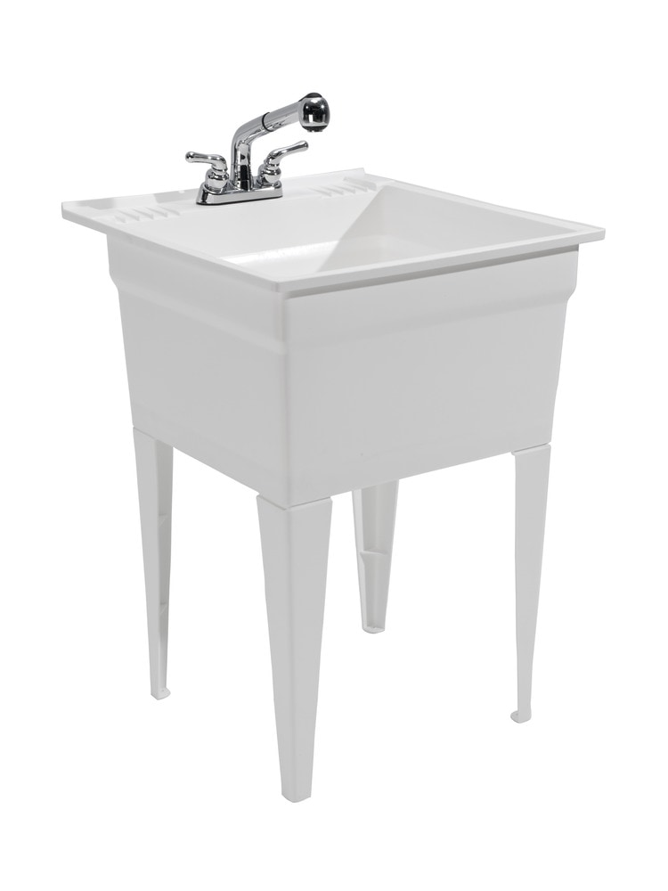 ... 20 Gallon Capacity Laundry Tub / Utility Sink / Fully Loaded Sink Kit
