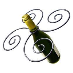 Vinotemp Epicureanist Swirl Wine Bottle & 4 Glass Holder Model 151721331 Kitchen Accessories
