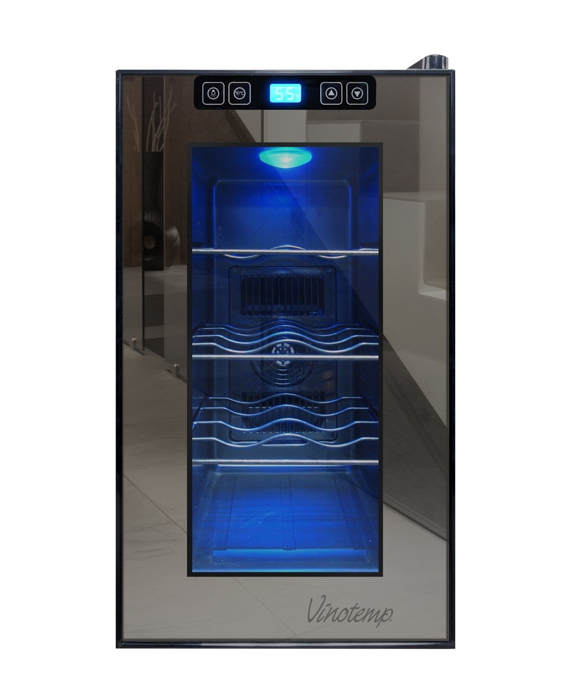 Vinotemp 8 bottle single zone thermoelectric wine cooler for Modern homes 8 bottle wine cooler