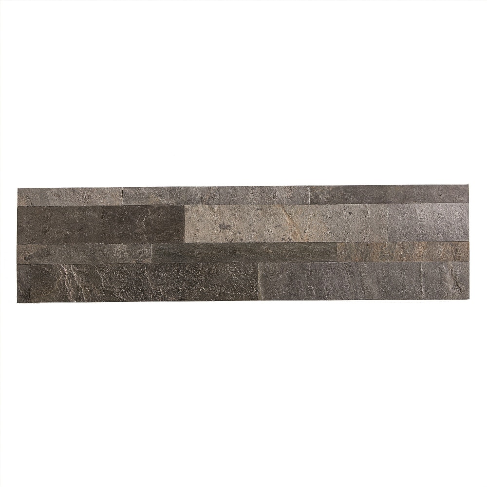 aspect stone aspect stone peel and stick backsplash 6in x 24in iron