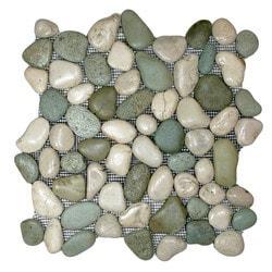 CNK Tile Pebble Tiles Model 151183991 Kitchen Stone Mosaics