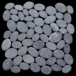 Pebbletile Mosaic Indonisian Marble Cut/ tumbled Model 151276201 Marble Flooring Tiles