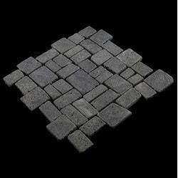 Pebbletile Mosaic Indonisian Marble Cut/ tumbled Model 151276371 Marble Flooring Tiles