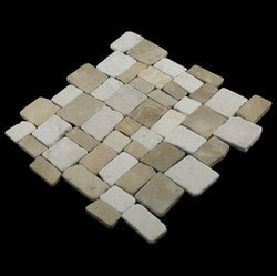 Pebbletile Mosaic Indonisian Marble Cut/ tumbled Model 151276391 Marble Flooring Tiles