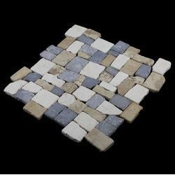 Pebbletile Mosaic Indonisian Marble Cut/ tumbled Model 151276411 Marble Flooring Tiles