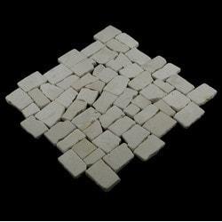 Pebbletile Mosaic Indonisian Marble Cut/ tumbled Model 151276421 Marble Flooring Tiles