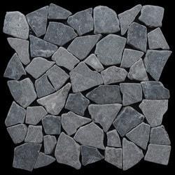 Pebbletile Mosaic Indonisian Marble Cut/ tumbled Model 151276441 Marble Flooring Tiles