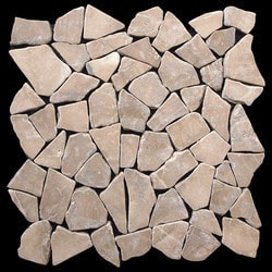 Pebbletile Mosaic Indonisian Marble Cut/ tumbled Model 151276451 Marble Flooring Tiles