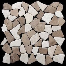 Pebbletile Mosaic Indonisian Marble Cut/ tumbled Model 151276471 Marble Flooring Tiles