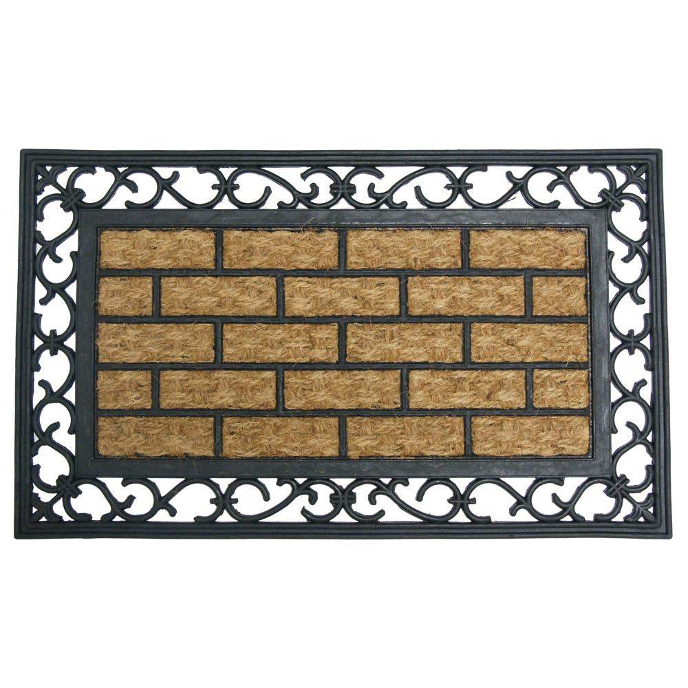 Rubber cal coir door mat rubber cal gibraltar outdoor for Outdoor doormats