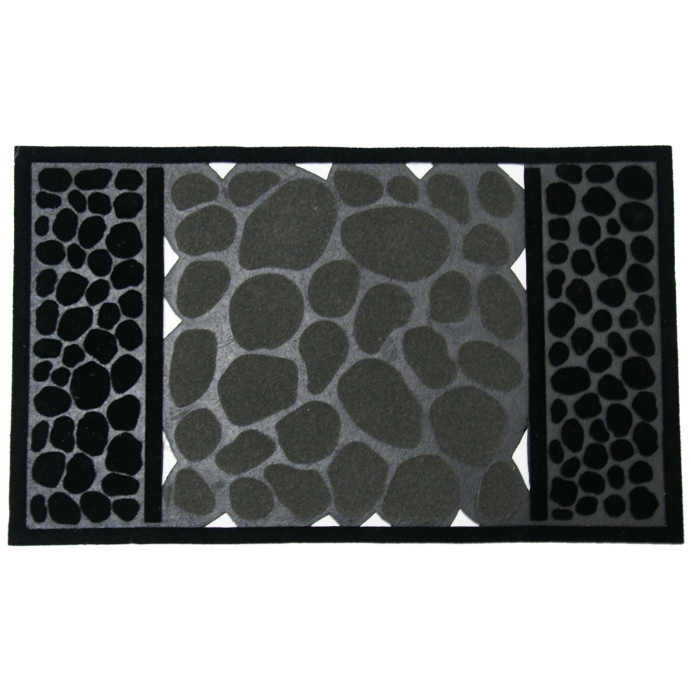 Rubber cal rubber door mat rubber cal river rocks for Designer front door mats