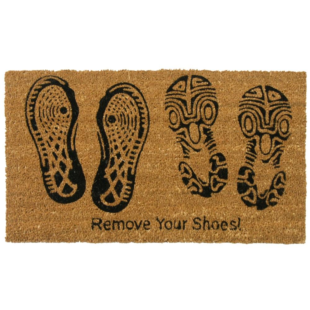 Rubber Cal Coir Door Mat Rubber Cal Remove Your Shoes