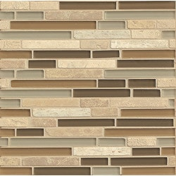 Bedrosians Eclipse Glass/Stone blend Model 150858201 Kitchen Wall Tiles