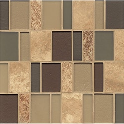 Bedrosians Manhattan Glass/Stone blend Model 150855221 Kitchen Wall Tiles