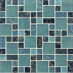 Bedrosians Ice Crackle Type 150736851 Kitchen Glass Mosaics in Canada