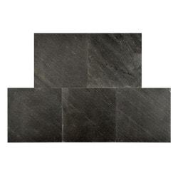FastStone Peel & Stick Slate Wall Tile Black Line Model 150714851 Kitchen Stone Mosaics