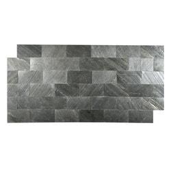 FastStone Peel & Stick Slate Wall Tile Black Line Model 150714821 Kitchen Stone Mosaics