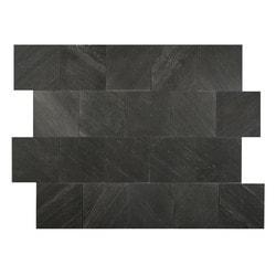 FastStone Peel & Stick Slate Wall Tile Black Line Model 150714831 Kitchen Stone Mosaics