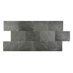 FastStone Peel & Stick Slate Wall Tile Black Line Model 150714841 Kitchen Stone Mosaics