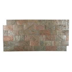 FastStone Peel & Stick Slate Wall Tile Copper Model 150714751 Kitchen Stone Mosaics
