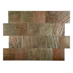 FastStone Peel & Stick Slate Wall Tile Copper Model 150714771 Kitchen Stone Mosaics