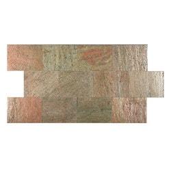 FastStone Peel & Stick Slate Wall Tile Copper Model 150714791 Kitchen Stone Mosaics