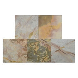 FastStone Peel & Stick Slate Wall Tile Indian Autumn Model 150714681 Kitchen Stone Mosaics