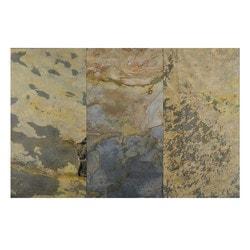 FastStone Peel & Stick Slate Wall Tile Indian Autumn Model 150714691 Kitchen Stone Mosaics