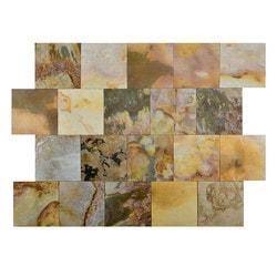 FastStone Peel & Stick Slate Wall Tile Indian Autumn Model 150714661 Kitchen Stone Mosaics