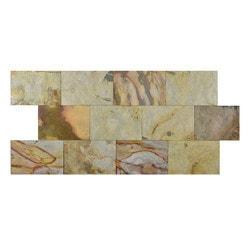 FastStone Peel & Stick Slate Wall Tile Indian Autumn Model 150714671 Kitchen Stone Mosaics