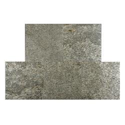 FastStone Peel & Stick Slate Wall Tile Silver Shine Model 150714731 Kitchen Stone Mosaics