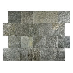 FastStone Peel & Stick Slate Wall Tile Silver Shine Model 150714711 Kitchen Stone Mosaics